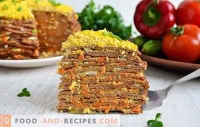 Pastel de hígado con zanahorias y cebollas: ¡un excelente aperitivo! Las mejores recetas, consejos y secretos de cocinar la torta del hígado con zanahorias y cebollas