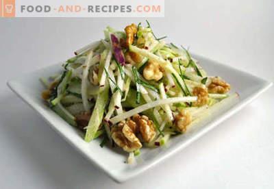 Ensalada de nueces - Recetas probadas. Cómo preparar adecuadamente una ensalada con nueces.