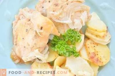 Muslos de pollo al horno en mostaza