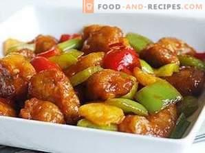 Carne china en salsa agridulce