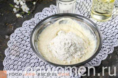 Pasteles de queso con fresas