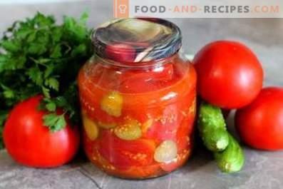 Ensalada de tomate y pepino para el invierno