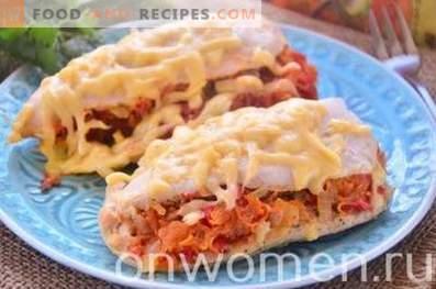 Filete de pollo al horno con verduras en el horno