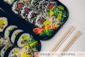 ¿Cuál es la diferencia entre sushi y rollos?