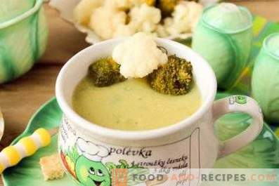 Sopa de crema de coliflor