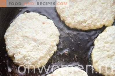 Pasteles de queso con harina de avena sin harina