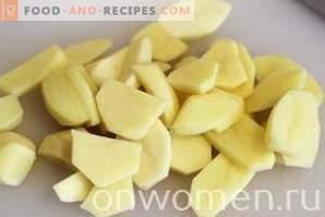 Patatas con queso en el horno