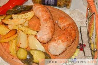 Salchichas de pavo confeccionadas en el horno
