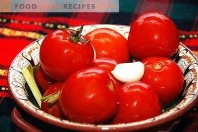 Tomates salados instantáneo