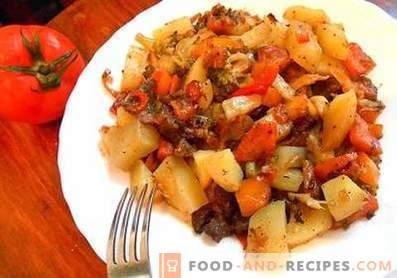 Guiso de verduras con calabacín