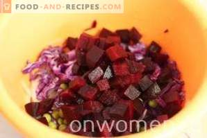 Salad with beets and peas