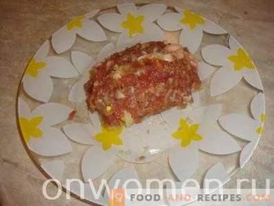 Carne Zrazy con Huevo y Cebolla