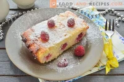 Cazuela de queso cottage con frambuesas