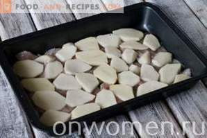 Pollo francés con papas en el horno