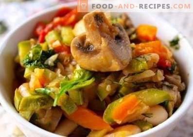 Guiso de verduras con setas