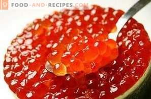 Cómo encurtir el caviar de salmón