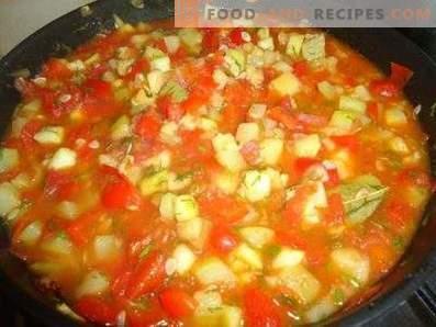 Calabacín guisado con tomates