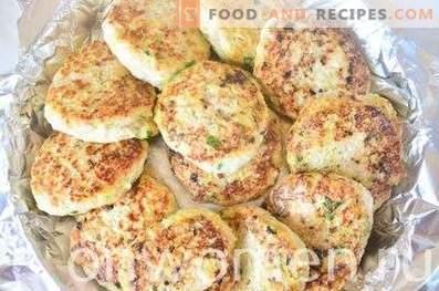 Chuletas de pollo con calabacín y verduras