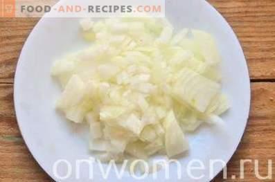 Champiñones rellenos de pollo en el horno