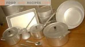 Daños a los utensilios de cocina de aluminio