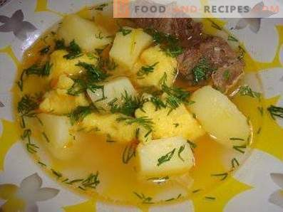 Sopa de carne con albóndigas