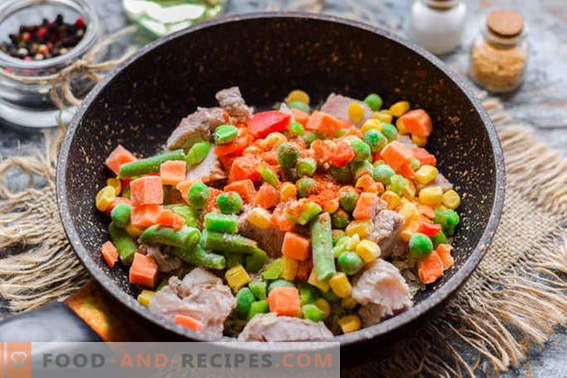 Pilaf rápido con carne y verduras