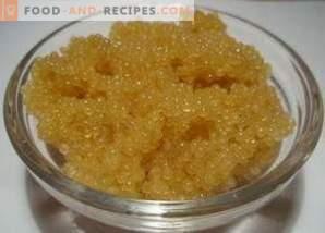 Cómo encurtir los picos de caviar