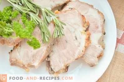 Cuello de cerdo al horno en cebolla