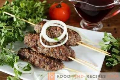 Kebab en la bandeja
