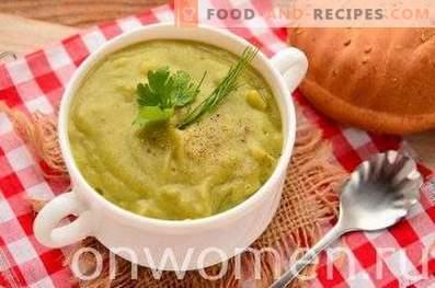 Sopa de crema de brócoli