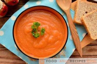 Sopa de puré de zanahoria