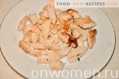 Shawarma con pollo y verduras