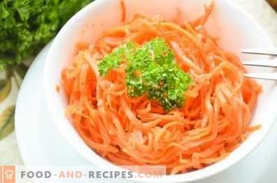 Zanahorias al estilo coreano.