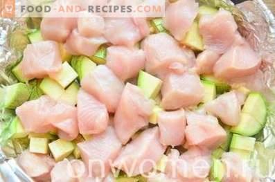Cazuela de calabacín con pollo en el horno