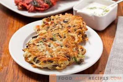 Tortitas de patata con champiñones