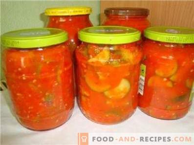 Calabaza en salsa de tomate para el invierno