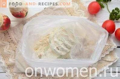 Calabaza al horno con tomates y queso