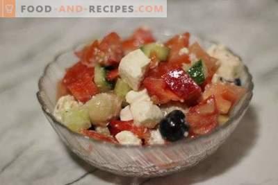 Гръцка салата с гъби