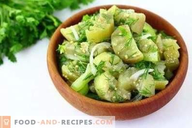 Berenjenas en escabeche con ajo y verduras instantáneas