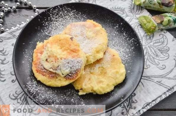 Tortas de queso en el horno