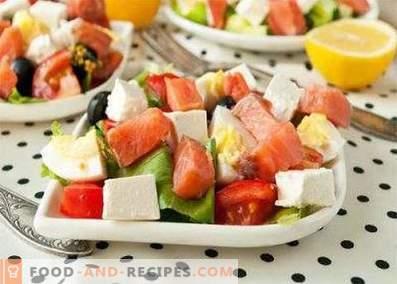 Ensalada de salmón rosado salado