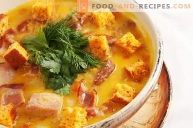 Sopa De Carne Ahumada De Guisantes