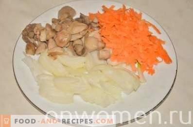 Fideos de arroz con pollo en salsa de soja