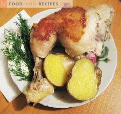 Piernas de pollo al horno en una olla de cocción lenta