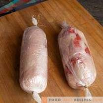Rollo de ternera con filete de pollo