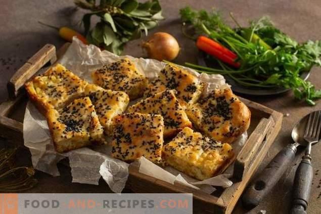 Pastel de pescado con mintai y papas fritas
