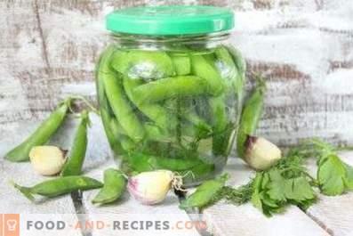 Preparación de guisantes verdes para el invierno