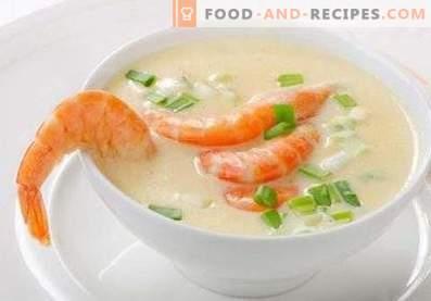 Sopa de crema de mariscos