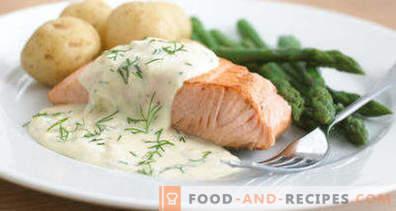 Salsa de pescado blanco