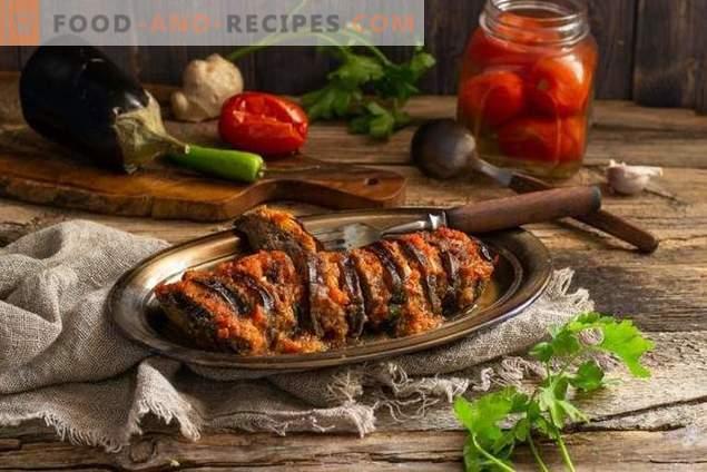 Ternera con berenjenas en salsa de vegetales - nutritiva y saludable